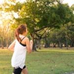 Bilde av en dame på joggetur