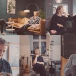 Collage av deltakerne i serien; Mats (28), Liss (59) og Marina og Espen (begge 53)